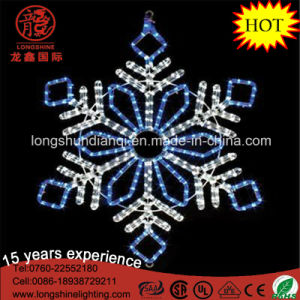 Two Color Blue Outdoor White Rope Motif Snowflake Star LED christmas Light for Decoration pictures & photos
