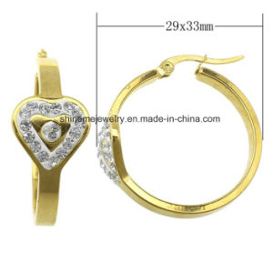 High Quality Fashion Gold Plated Stainless Steel Jewelry Earrings (ERS6916) pictures & photos