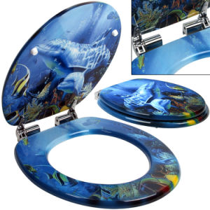 Printed Fashion Design MDF/Mouled Print Toilet Seat pictures & photos