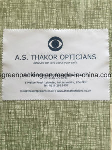 White Microfiber Glasses Cleaning Wipe Cloth with Custom Logo pictures & photos