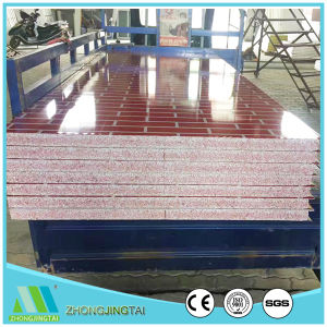 Color Steel Rockwool/Glasswool/EPS Sandwich Wall Panel for Steel Structure pictures & photos