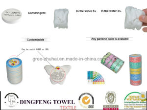 Brand Promotion Product: 100% Cotton Compressed Promotional Towel. Tablet. T-Shirt pictures & photos