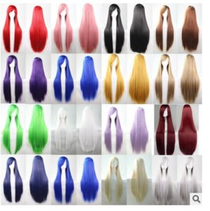 Cos Color Cosplay Long Straight Hair Wig Wig Wig 80cm Spot Selling Models of European and American Animation pictures & photos