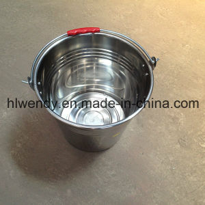 Stainless Steel Pail Buckets with Handle pictures & photos