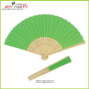 Green Silk Hand Held Fan pictures & photos