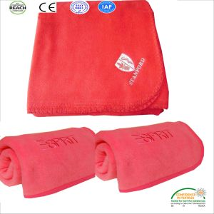 Red Color Airline Blanket in Flame Retardant Polar Fleece pictures & photos