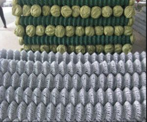 "2""Inch Hole Galvanized Chain Link Mesh Fence pictures & photos"