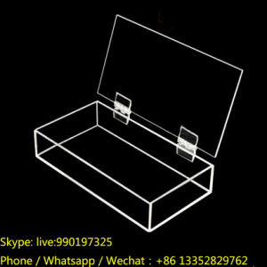 Transparent Plastic Perspex Storage Box with Hinge pictures & photos