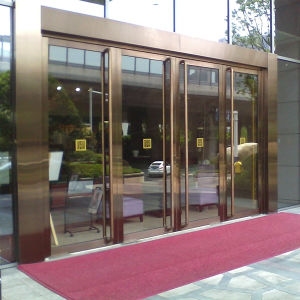 Stainless Steel Tempered Glass Commercial Entry Door pictures & photos