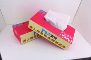 Box Facial Tissue Paper 100% Virgin Pulp Paper 100sheets pictures & photos