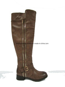 Hot Selling Wohlesale Women Chunky Low Overknee Heel Boots for Shopping pictures & photos