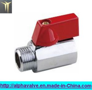 Female X Male Polished Chrome Brass Mini Ball Valve (a. 0130)