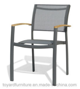 Best Choices High Quality Outdoor Patio Aluminum Powder Coated Sling Mesh Fabric Furniture White Finish pictures & photos