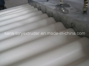 PVC Corrugated Wave Board Extrusion Production Line/Plastic Extruder pictures & photos