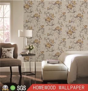 Modern Italy Design Deep Embossed Vinyl Wall Paper pictures & photos