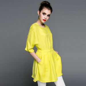 Summer Style One-Piece Dress with Bat Sleeve Design pictures & photos