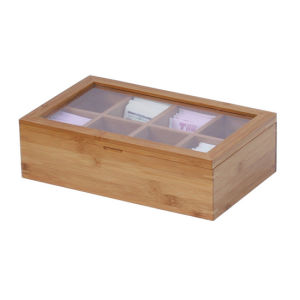 Customized Bamboo Wooden Box with Acrylic Glass Lid pictures & photos