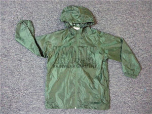 Lightweight Polyester Wind Jacket with AC Coating pictures & photos