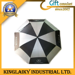 Two Layer Golf Umbrella with Logo for Promotion (KU-006) pictures & photos