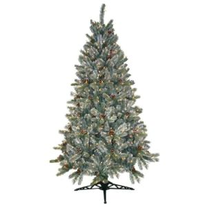 6.5FT Pre-Lit Siberian Frosted Pine Artificial Christmas Tree with Low Voltage LED Supply (MY100.095.00) pictures & photos