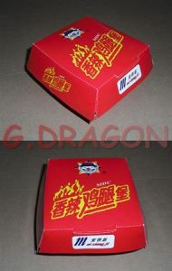 13cmx4cm Set of 6 Prefolded Boxes Burger Boxes (GD-BB007) pictures & photos