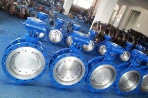 Wcb Flanged Butterfly Valve with Gear Box Operated 150lb pictures & photos