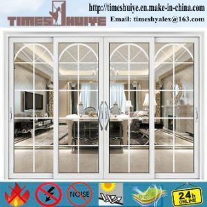 White Aluminium/Aluminum Hanging Doors with 4 Panels pictures & photos