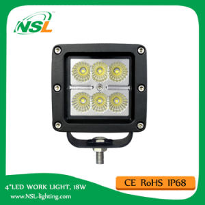 Cube LED Work Light 18W 3inch E-MARK R10 R23 R112 pictures & photos