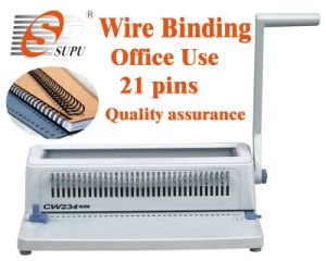 Manual Plastic Double Wire Binding Machine (CW234) pictures & photos