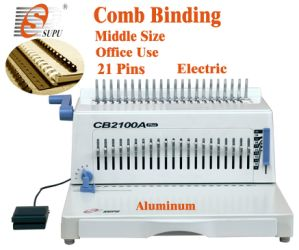 Electric Plastic Office Equipment Comb Binding Machine for Book Punching/Binding (CB2100A) pictures & photos