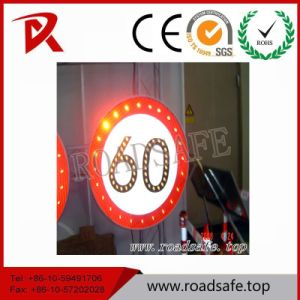 Roadsafe Aluminum Reflective Speed Limited Warning Traffic Sign Symbols LED Traffic Sign pictures & photos