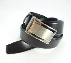 Men′s Genuine Leather Belt with Auto Buckle (EUBL0874-35)