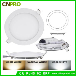 24W Warm White Color Rounded Slim AC85-265V LED Panel pictures & photos
