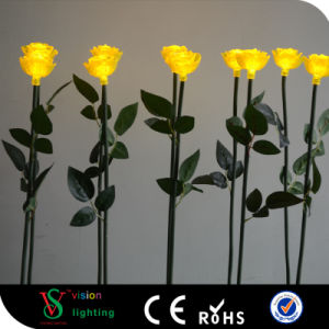 Hot Sale Outdoor Decorative LED Rose Lamp pictures & photos