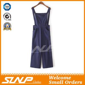 Factory Wholesale Women Suspender Trousers Denim Pants pictures & photos