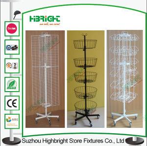 Supermarket Metal Wire Display Rack with Hooks Pop Displays pictures & photos