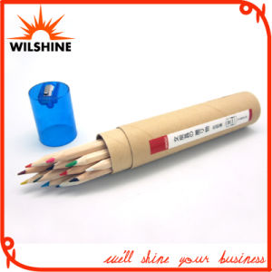 7′ Wooden Color Pencil with Transparent Sharpener Cap (MP007) pictures & photos