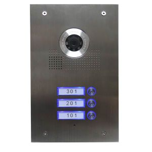 Stainless Steel Three Users Door Unit for Intercom pictures & photos