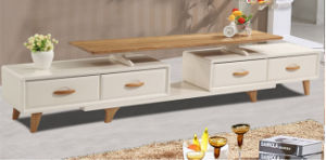 New Design Extendable Solid Wood TV Stand pictures & photos