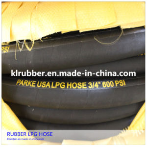 High Pressure Rubber Hydraulic LPG Hose for Industrial Hose pictures & photos