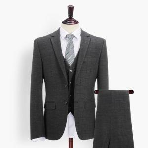 Man Check Suit Western Style Business Men′s Tuxedo Men′s Suits pictures & photos
