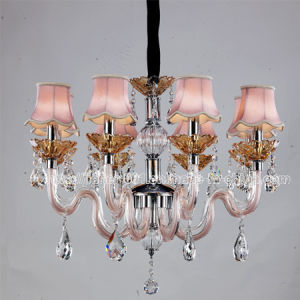 Popular Bedroom Crystal Ceiling Lamp Lighting (S-8022-8) in Pink pictures & photos