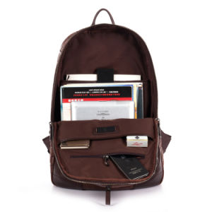 Trendy Crocdile Grain Leather School Laptop Backpack pictures & photos