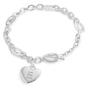 Fancy Heart Charm Women Bracelet