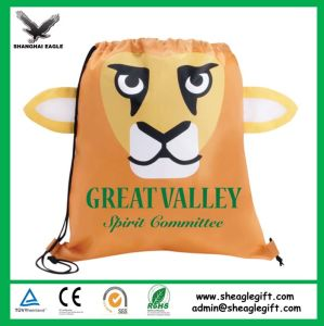 Promotion Animal Shape Children Cartoon Drawstring Backpack pictures & photos