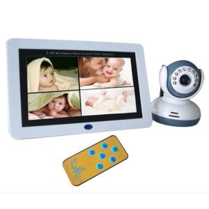 2.4G Wireless 7′′lcd Quad DVR for Baby Monitor Camera