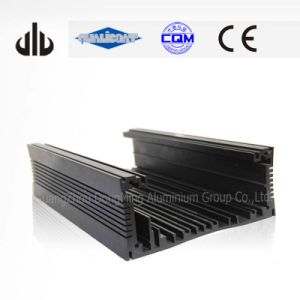 Industrial Aluminium Alloy Extrusion with Black Anodized and Fabricated Aluminium Profiles for Amplifier