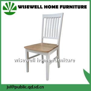 Solid Oak Wood Restaurant Chair with PU Seat pictures & photos