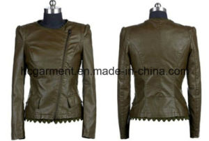 Fashion Punk PU Jackets for Lady/Women, Outdoor Coats pictures & photos