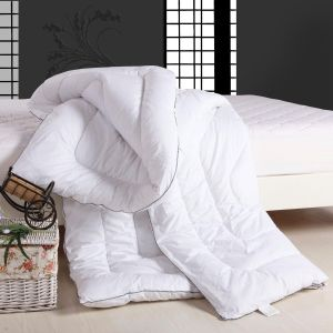 White Cotton Fabric Silicon Fiber Hollow Filling Quilting Comforter pictures & photos